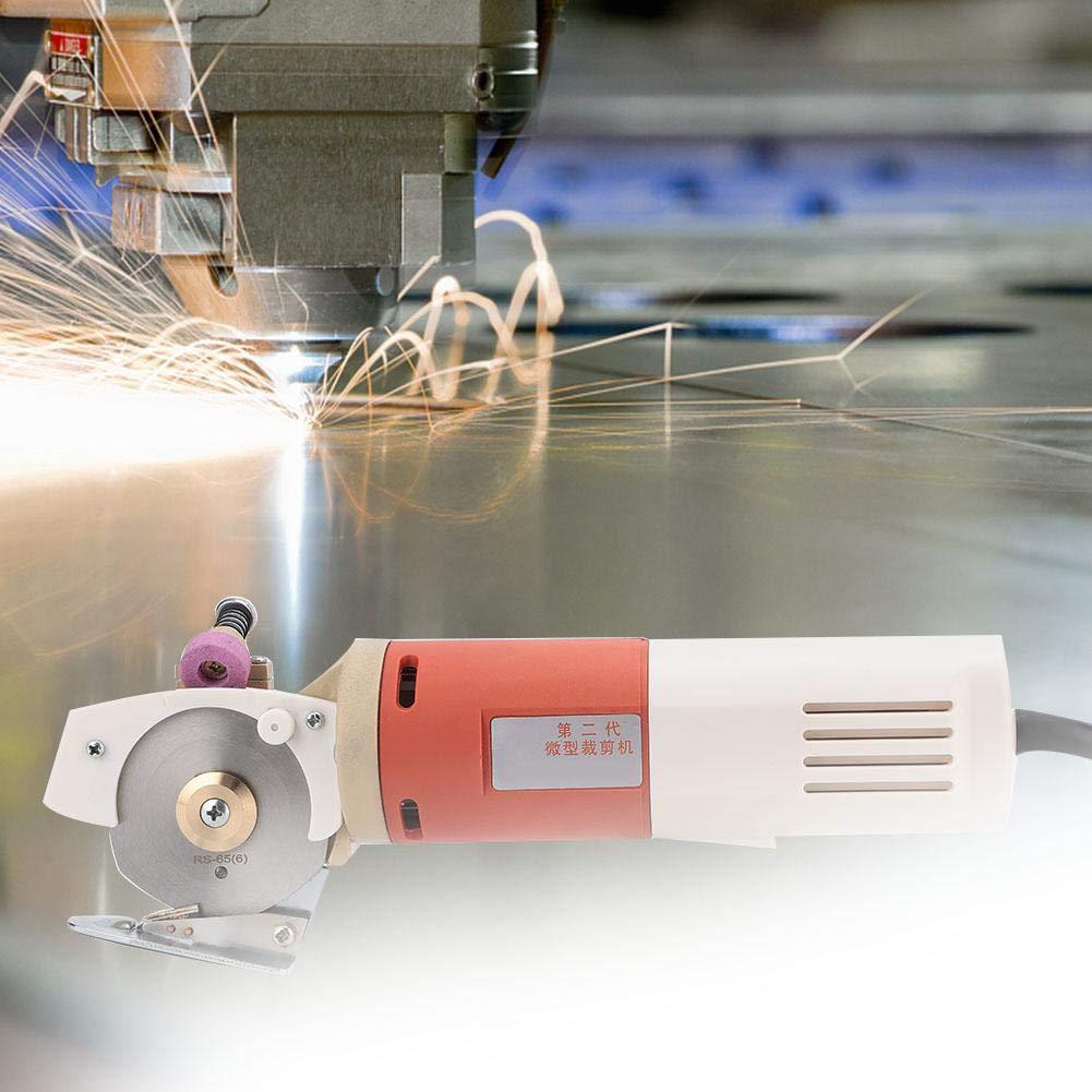 cortadora redonda de tela port/átil de mano cortadora de tela redonda de cuchilla giratoria de 65 mm EU cortadora de tela, Cortadora de tela redonda el/éctrica de 220 V