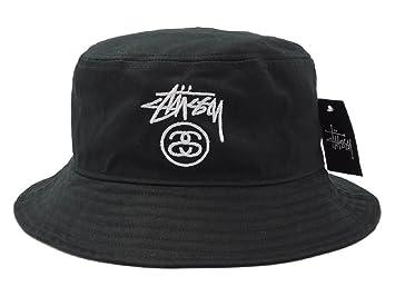 96f786cc6d5 Fashion Unisex Stussy Bucket Hat (Black)  Amazon.co.uk  Sports ...