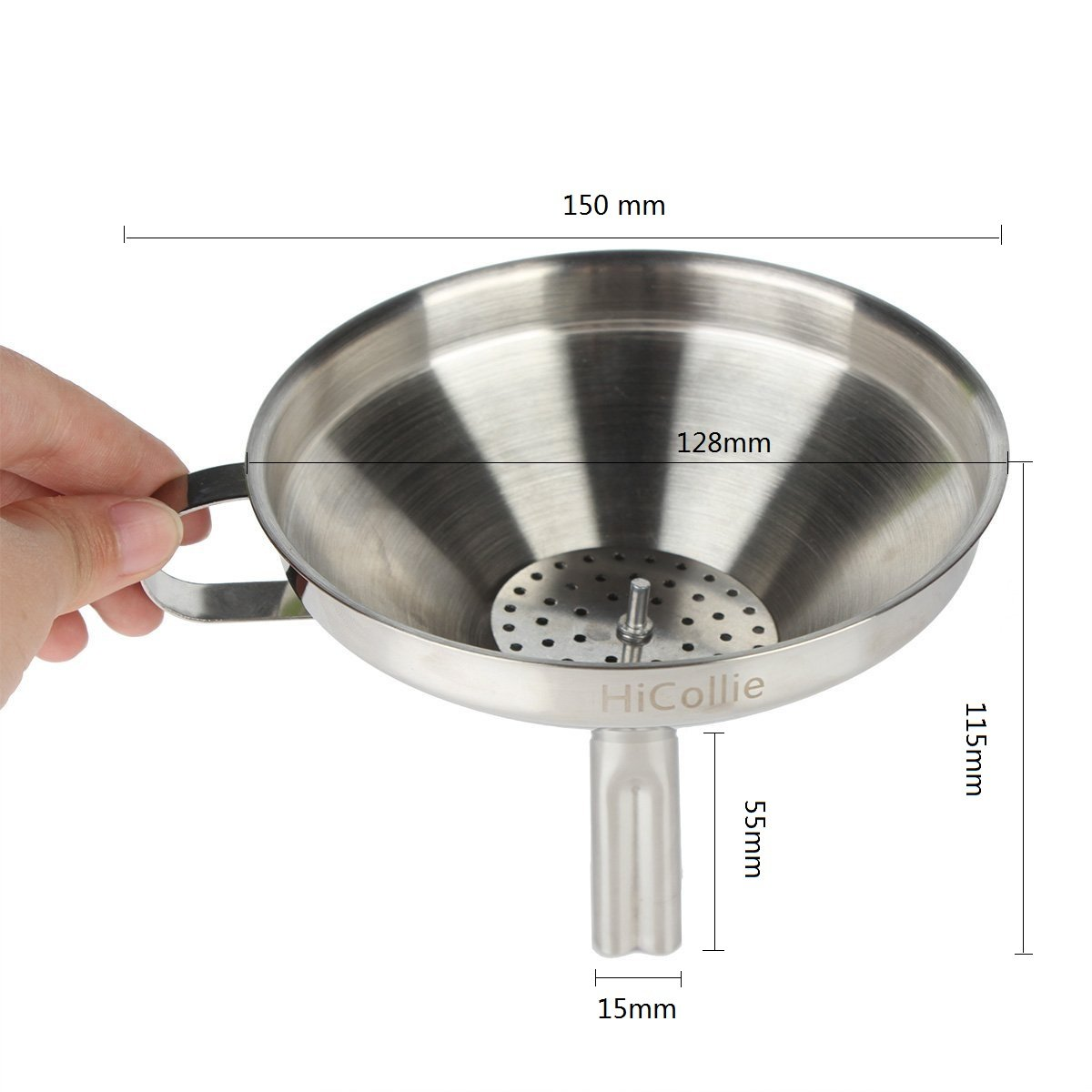 Amazon.com: HiCollie Kitchen Stainless Steel Funnel with Detachable ...