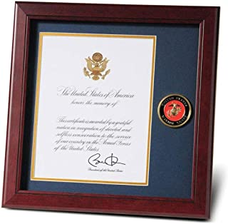 product image for flag connections Marine Corps Presidential Memorial Certificate Frame with Medallion - 8 x 10 inch