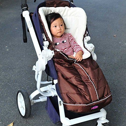 Cozy Bunting Bag, Fleece Lining,Nylon Outside Shell Wind Snow Proof, Adaptable for Strollers Joggers Pushchair