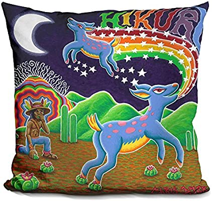 LiLiPi Hikuri Venado Azul Decorative Accent Throw Pillow