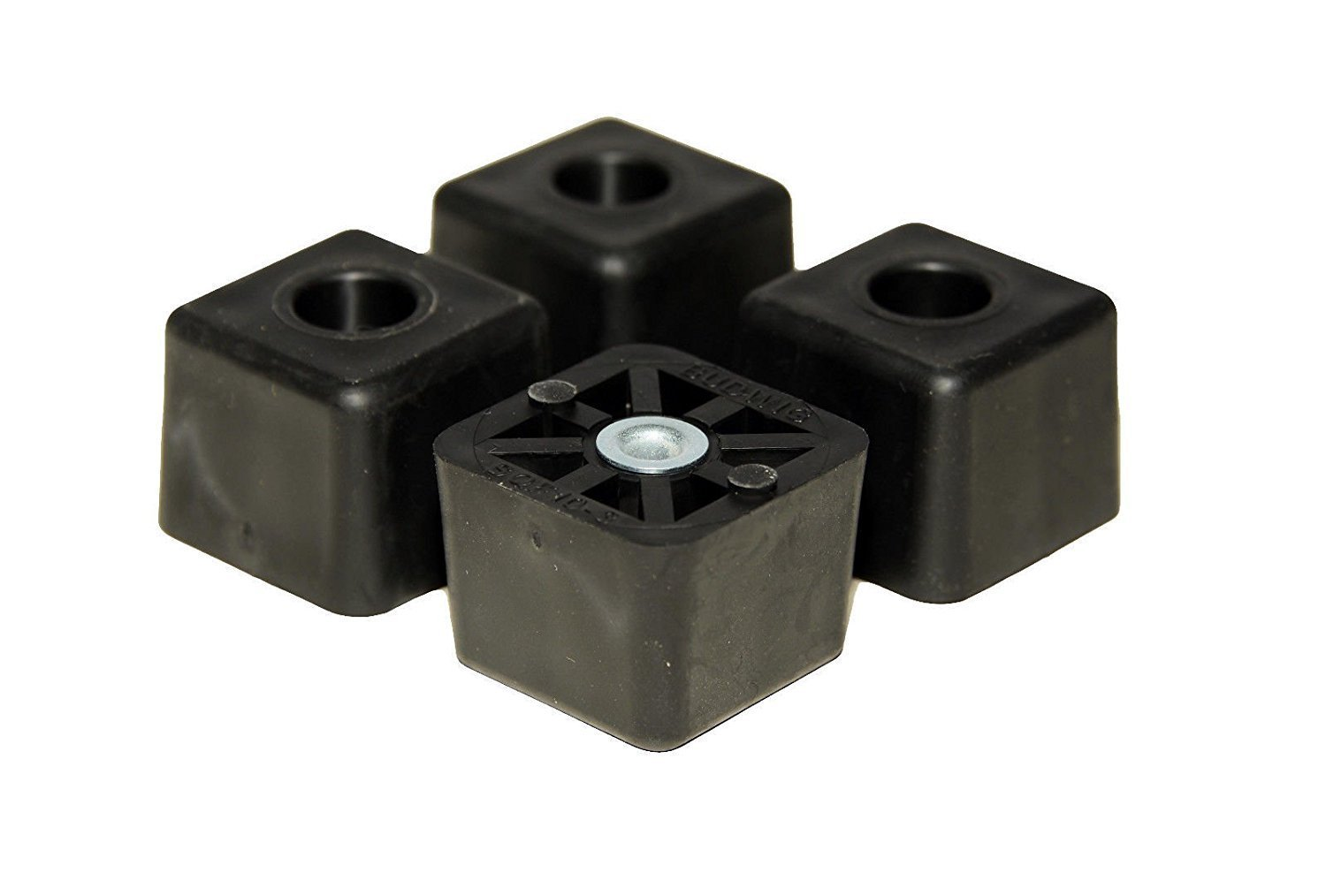 20 Large Cube Square Rubber Feet Bumpers - 1.125 H X 1.500 W - Made in USA Heavy Duty Non Marking for Furniture, Tables, Chairs, Desks, Benches, Sofas, Chests, Other Large Items.