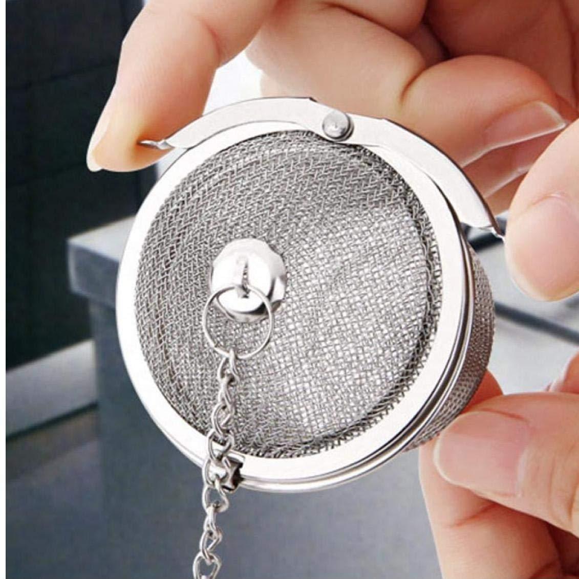 Cabilock 8Pcs Infusor de Bola de T/é de Acero Inoxidable Colador de T/é de Malla Fina Difusor de Filtro de T/é Infusor de Cocina para Hojas de Hojas Sueltas Condimento Especias 5 Cm