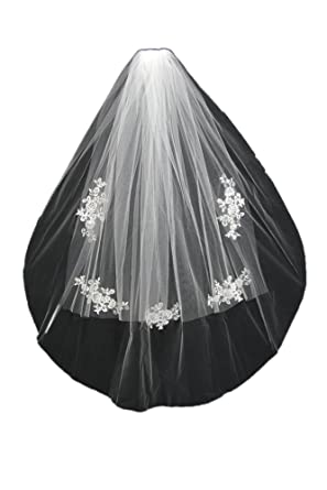 Oncefirst Womens 4 Tier Bridal Veil With Comb