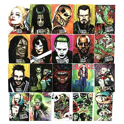 20pcs Harley Quinn Joker Stickers Motorcycle Bicycle Skateboard Luggage Decal Graffiti Patches Waterproof Stickers for [No-Duplicate Sticker Pack]
