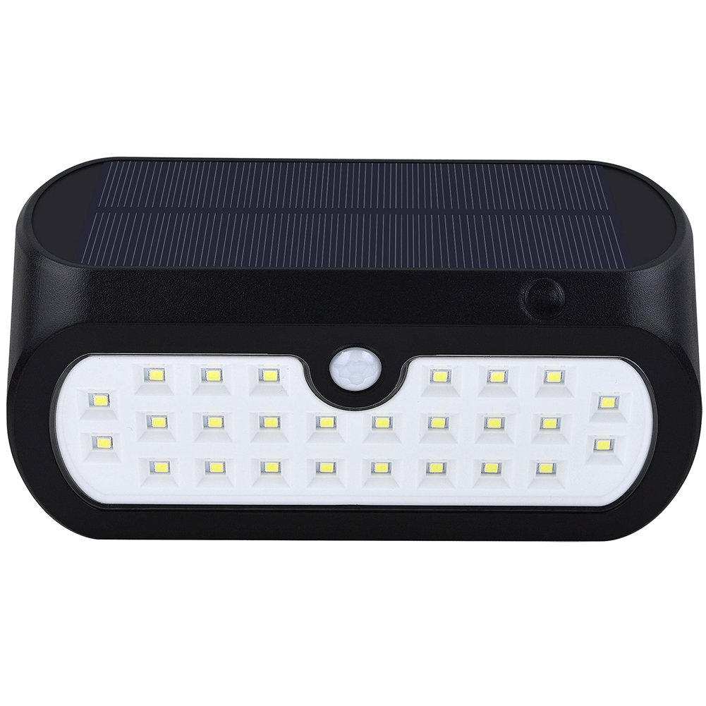 Yiding Waterproof Solar-Powered LED Yard Wall Lamp Light Sensor & Human Body Induction Lawn Street Light
