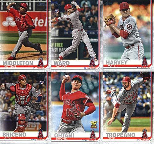 Angels Baseball Memorabilia - 2019 Topps Series 2 Baseball Los Angeles Angels Team Set of 10 Cards: Shoehei Ohtani(#367), Albert Pujols(#437), Matt Harvey(#490), David Fletcher(#520), Keynan Middleton(#563), Taylor Ward(#588), Shohei Ohtani(#600), Nick Tropeano(#615), JC Ramirez(#657), Jose Briceno(#689)