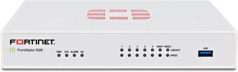 FORTINET FortiGate 52E Network Security/Firewall Appliance - 7 Port - 1000Base-T Gigabit Ethernet - AES (256-bit), SHA-1 - USB - 7 x RJ-45 - Manageable - Desktop