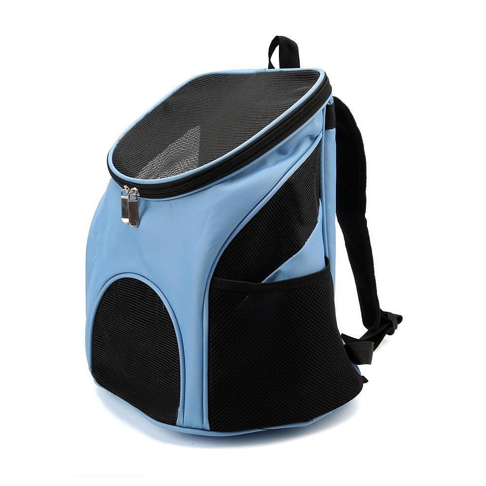 D Daeou Pet Backpack Pet Messenger Bag Backpack Folding pet Bag Out of Pocket Bag Double Shoulder Bag 33x30x31cm