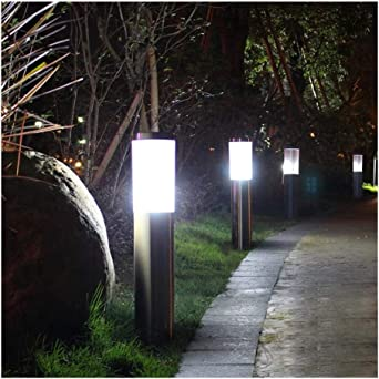 Lámpara LED For Exteriores IP65 Impermeable 12V 110V 220V E27 Jardín Luces De Acero Inoxidable Luces De Patio Lámpara De Paisaje (Wattage : 60CM): Amazon.es: Iluminación