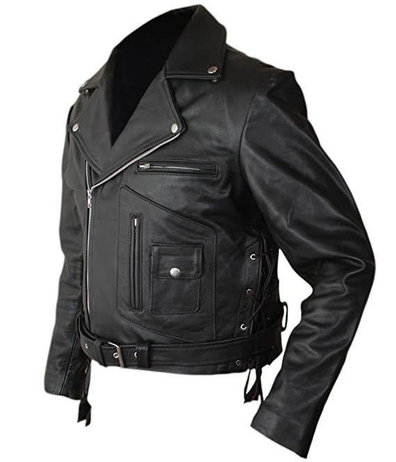 Fh mens terminator 2 judgment day arnold genuine leather jacket at fh mens terminator 2 judgment day arnold genuine leather jacket at amazon mens clothing store thecheapjerseys Choice Image