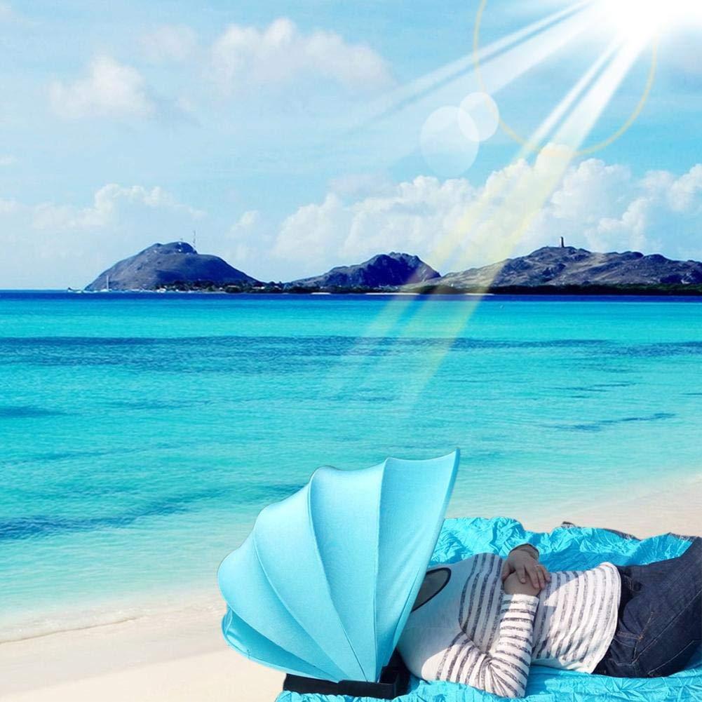 Domitlar Parapluie de Plage Portable pour Le Visage et Le Soleil