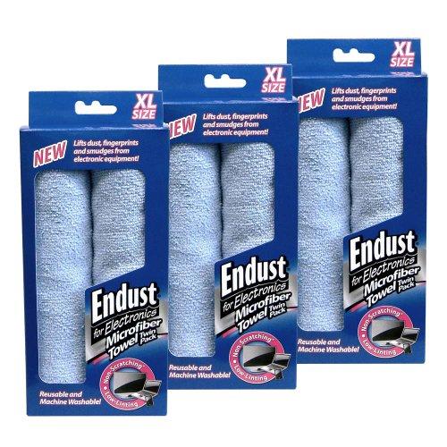Endust Dust Cloth - Endust Micro Fiber Towels - 2 Per Pack (3 Pack)
