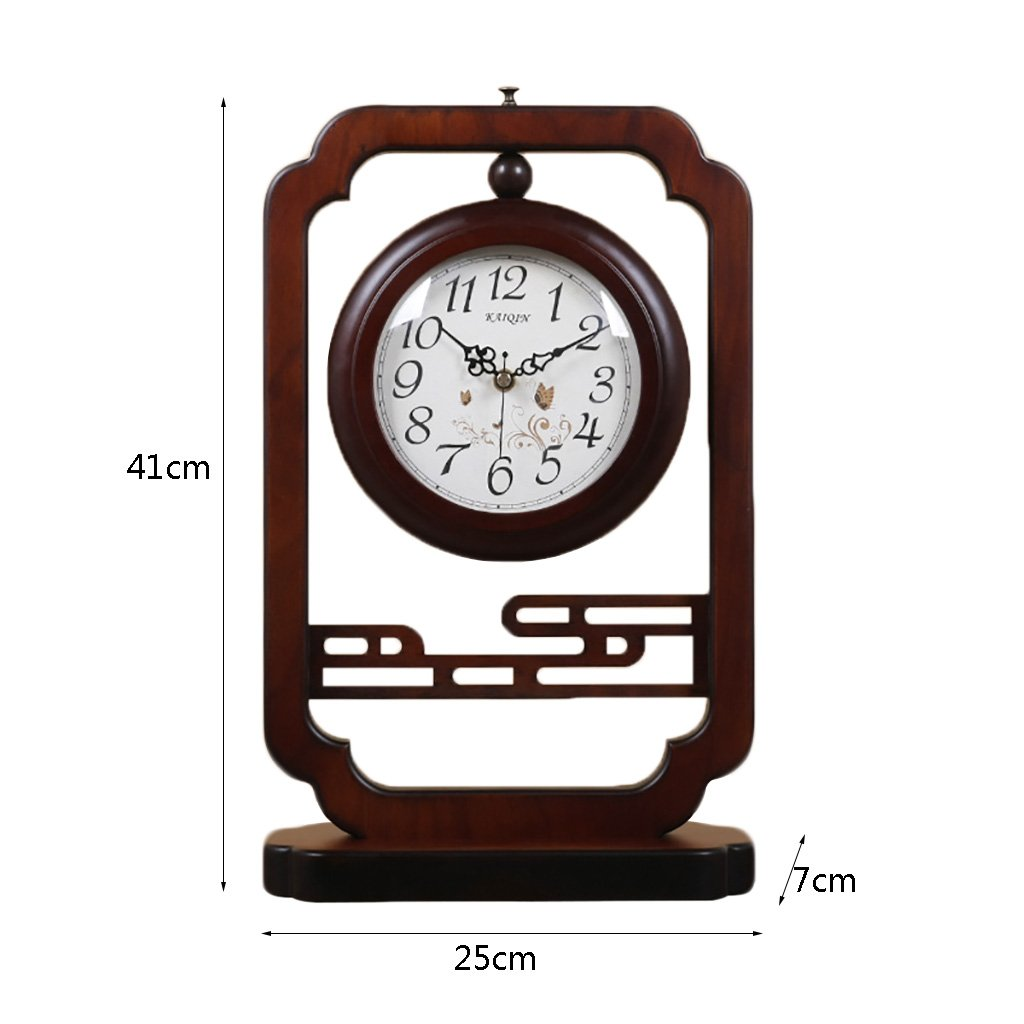 LANNA SHOP- Vintage Retro Double-sided 360 ° rotation Clock Wooden living room desk clocks by Clock