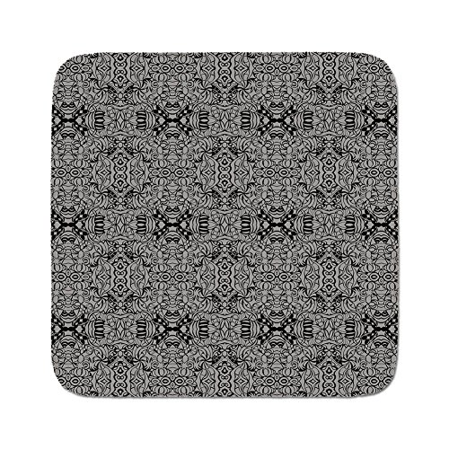 Cozy Seat Protector Pads Cushion Area Rug,Dark Grey,Abstract Antique Pattern with Curves and Swirls Renaissance Revival Vintage,Black Dimgrey,Easy to Use on Any (Grey Revival Toilet Seat)