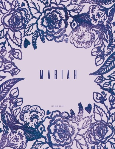 Mariah Dot Grid Journal: Purple Notebook With Name On ()