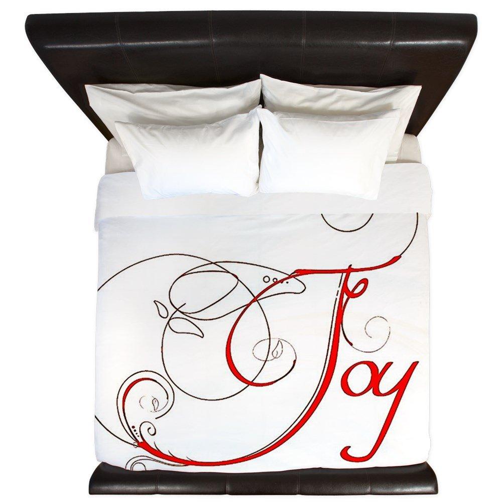 CafePress - Joy! - King Duvet Cover, Printed Comforter Cover, Unique Bedding, Microfiber