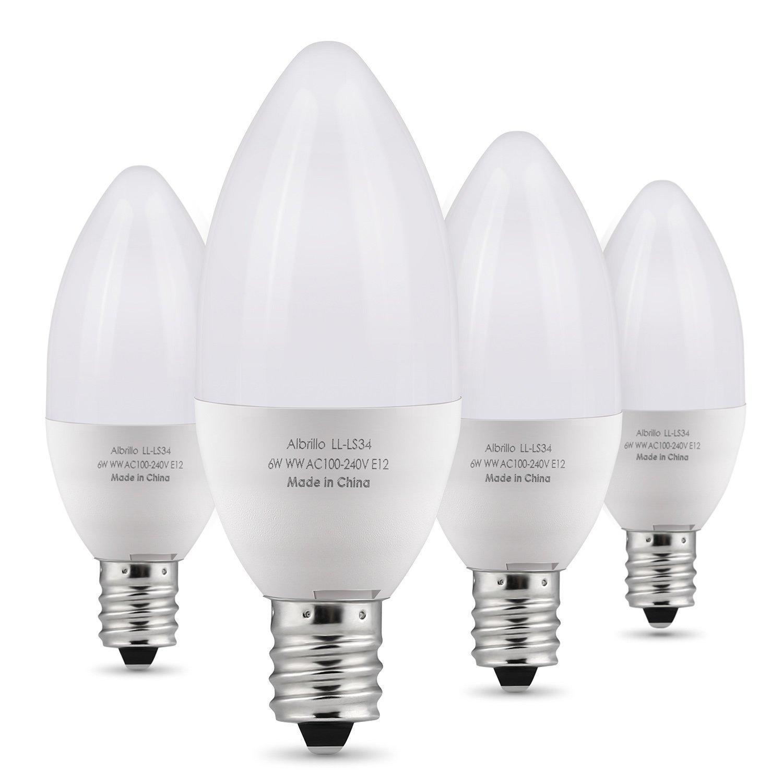 albrillo e12 bulb candelabra led bulbs 60 watt equivalent daylight white 5000k 701979228036 ebay. Black Bedroom Furniture Sets. Home Design Ideas
