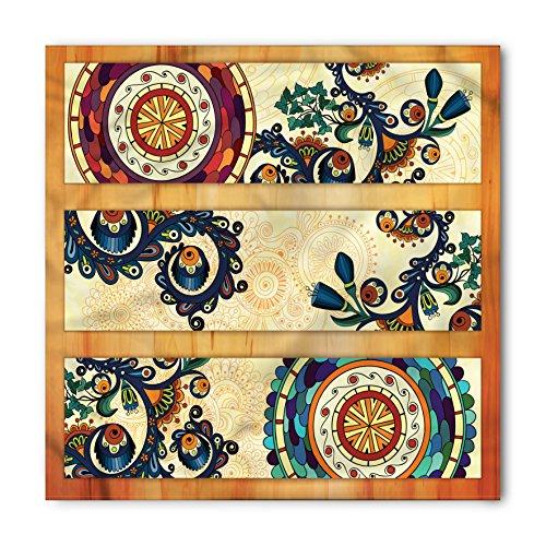 (Ambesonne Paisley Bandana, Eastern Batik Style, Unisex Head and Neck Tie)