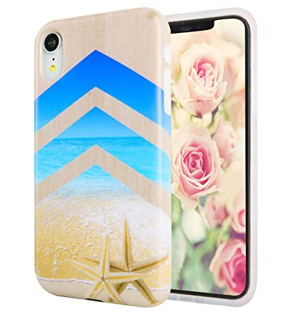 Amazon.com: Funda para iPhone XR de Hepix, diseño floral con ...
