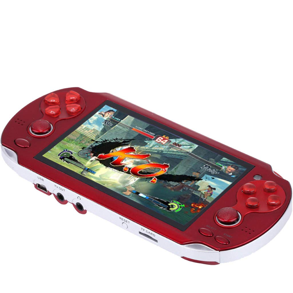 Huangou PSP Games,Retro Classic Game Console Handheld Portable 800 Built-in 4.3 Inch Games (Red, 11.5 x 8.5 x 9cm) by Huangou (Image #7)