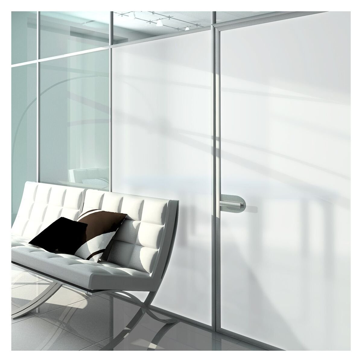 BDF MTWH Window Film White Frosted Privacy (24in X 12ft)