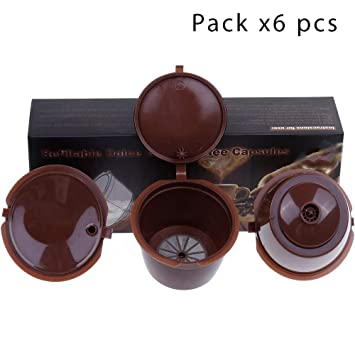 Paide [6pcs Cápsulas de café Recargables y Reutilizables - Dolce Gusto (Pack 6 Marron): Amazon.es: Hogar
