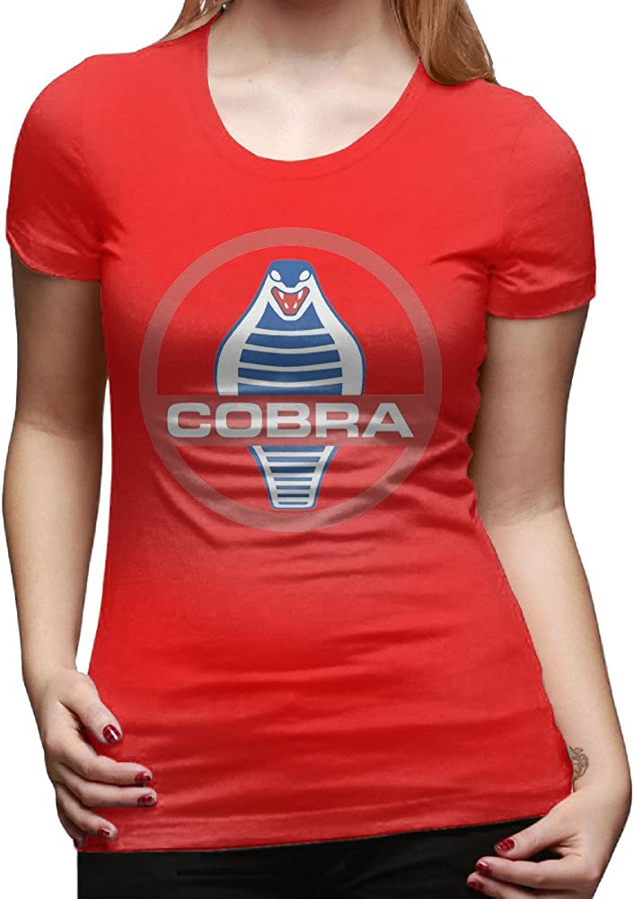 GOOOET Women's New Ford Mustang Shelby Cobra Cotton Tees