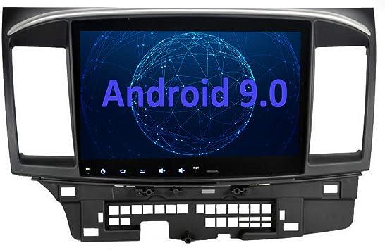 SYGAV Android 7.1.1 Nougat Car Stereo for 2008-2013 Mitsubishi Lancer EVO X Ralliart with Rockford Fosgate AMP GPS Navigation Radio