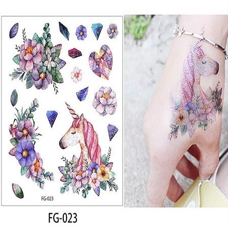 adgkitb 5 Piezas Hoja Brillo Colorido Cuerpo Tatuaje Impermeable ...