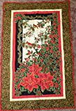 Christmas Wall Hanging, Cardinals,Poinsettias,Quilted, Decorated
