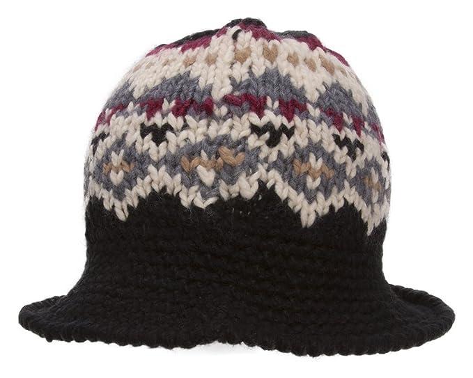 9f170fd015421 TOP HEADWEAR TopHeadwear Knitted Bucket Hat - Black at Amazon Women s  Clothing store