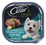 CESAR SAVORY DELIGHTS Pork Tenderloin Flavor With Roasted Potatoes & Green Beans in Meaty Juices Dog Food Trays (Pack of 24) For Sale