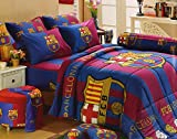Barcelona Fc Football Club Official Licensed Bedding Set, Bed Sheet, Pillow Case, Bolster Case, Comforter, BC001 Set B+1, 60''x78'' Queen Size