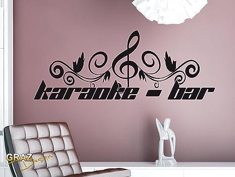 Adesivo da parete musica deko motive proverbi karaoke bar con