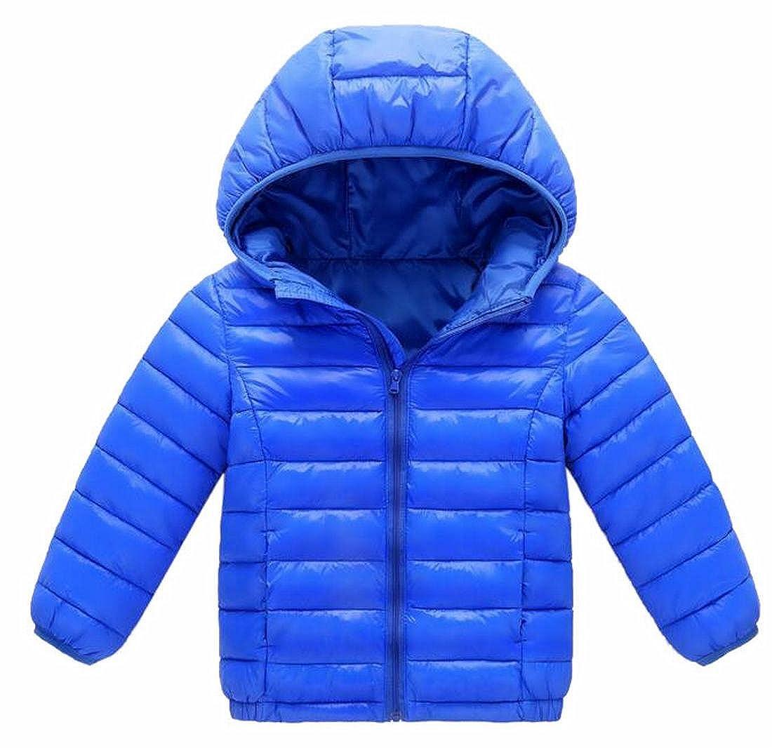 Yayu Men Hooded Lightweight Puffer Coat Outerwear Packable Down Jacket
