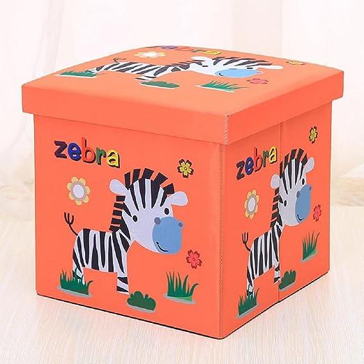 Cebra caja cuadrada de tela Oxford plegable almacenamiento de las ...