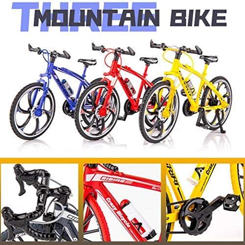 DaJun Mini Bike ModelFolding Finger BikeWear-Resistant Mountain Bike Decoration Alloy Bike OrnamentGame Toy Set Collections Cake Decoration