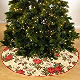 "Violet Linen Decorative Christmas Garden Design Tree Skirt, 43"""