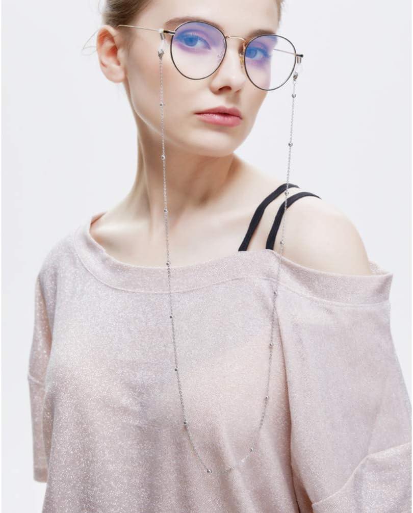 Oro Oro Rosa Argento Stile Nero Healifty Catena per Occhiali 4 Pezzi Cinturino per Occhiali Catenella per Occhiali Antiscivolo Porta Catena per Occhiali da Sole in Rilievo