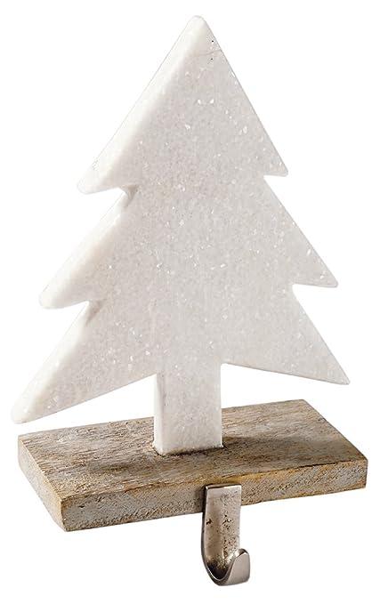 Christmas Tree Stocking Holder.Mud Pie Marble Tree Stocking Holder