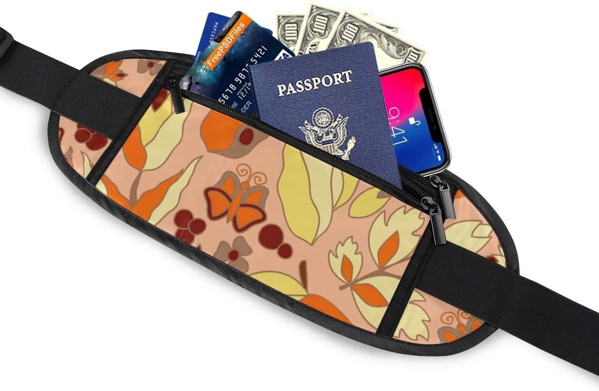 Flowercat Butterfly Cartoon Running Lumbar Pack For Travel Outdoor Sports Walking Travel Waist Pack,travel Pocket With Adjustable Belt