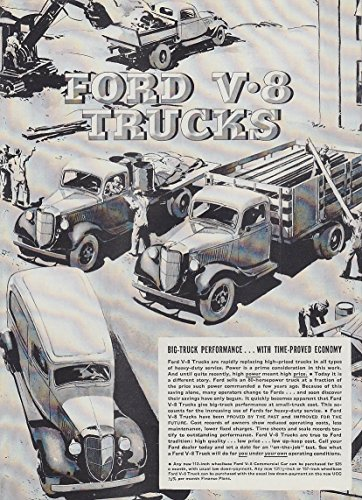 (Big-Truck Performance with Time-Proved Economy Ford Panel Dump Stake ad 1936 T)