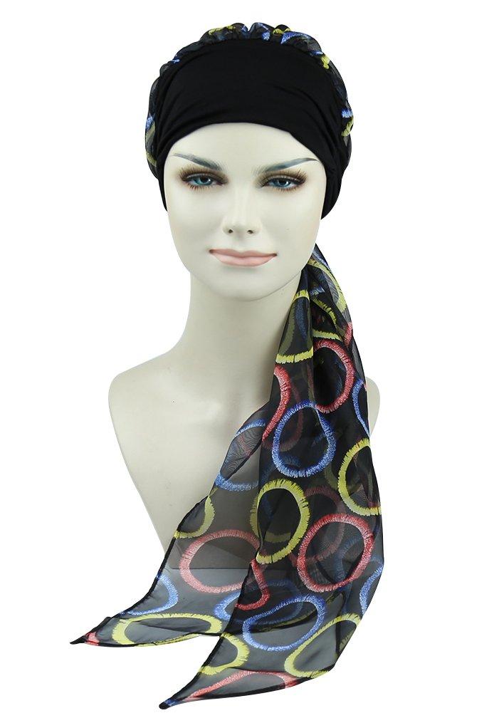 Easy Tie Head Scarfs For Chemo Women Hair Loss Cap Alopecia Beanie Print Bandana