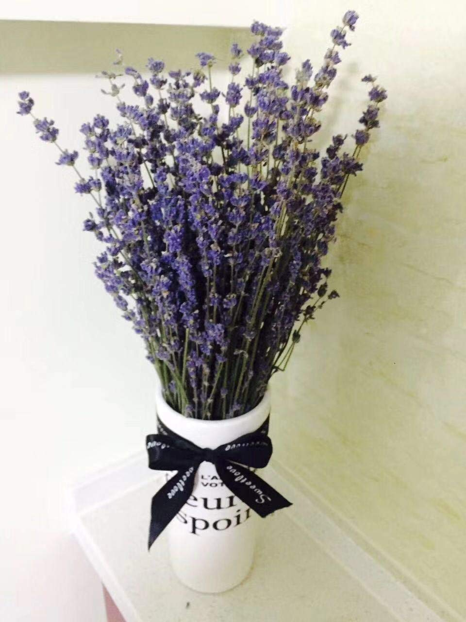 French Dried Lavender Flowers Bunch, Fragrant 100gr by DriedDecor.com
