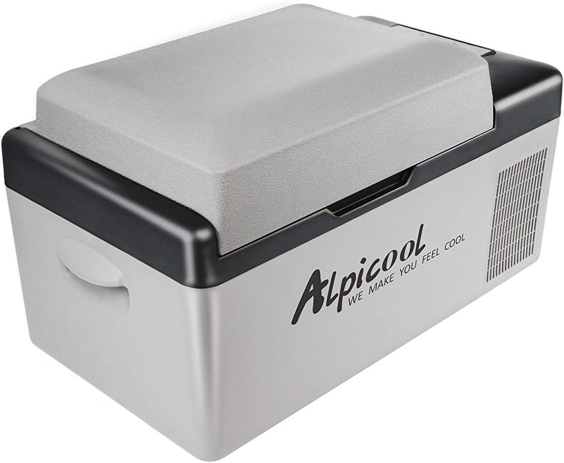 ZZKK Refrigerador Portable, Coche, Turck, RV, Barco, Mini congelador del refrigerador para Conducir, Recorrido, Pesca, Uso al Aire Libre y casero