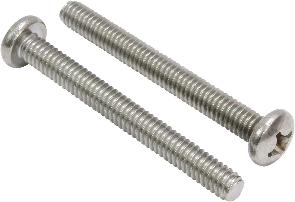 Stainless Steel Screw by Bolt Dropper 304 25 pc #6-32 X 3 Stainless Pan Head Phillips Machine Screw, 18-8