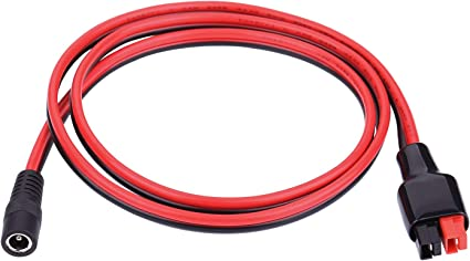 """DC Cable product Power 2-pole 45Amp 45A plug Assembled Pigtail Lead 14AWG 1/' 12/"""""""