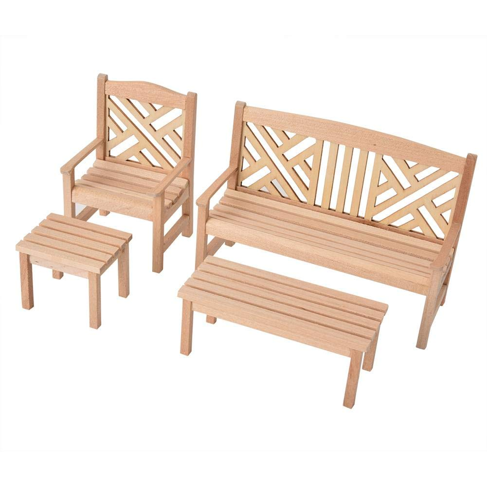 Awesome Dollhouse Furniture 4Pcs 1 12 Scale Wooden Doll House Download Free Architecture Designs Scobabritishbridgeorg